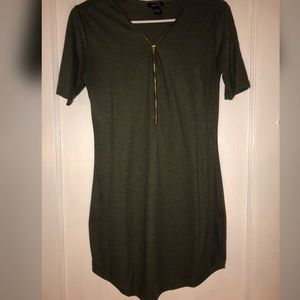 Rue21 Olive Green Zip-up Dress